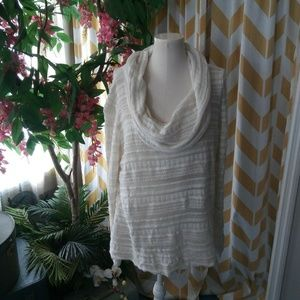 Maurices Ladies size 2XL Ivory Cowl Neck sweater